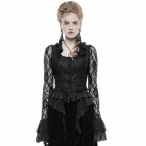Gothic Gorgeous Women's black lace Shirt