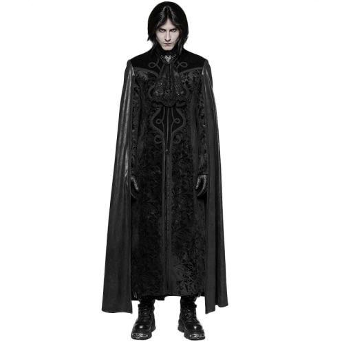 Gothic Night Count Cloak men's Long Coat