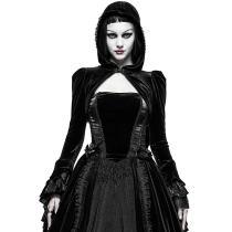 Gothic velvet Ruffles Women's short coat