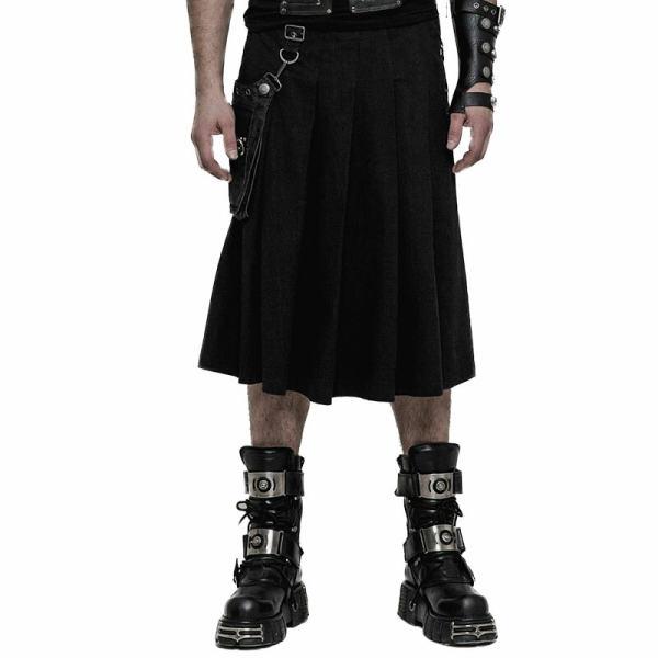 PUNK Men's hundred folds Half Skirt
