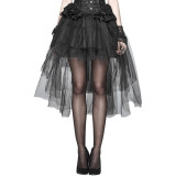 Gothic Basic Bustle Women's Skirt Black
