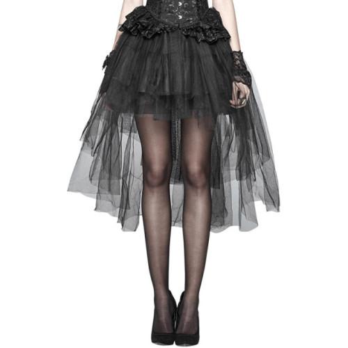 Gothic Basic Bustle Women's Skirt Black