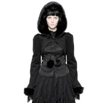 Lolita Imitation Rabbit Hair Short Coat
