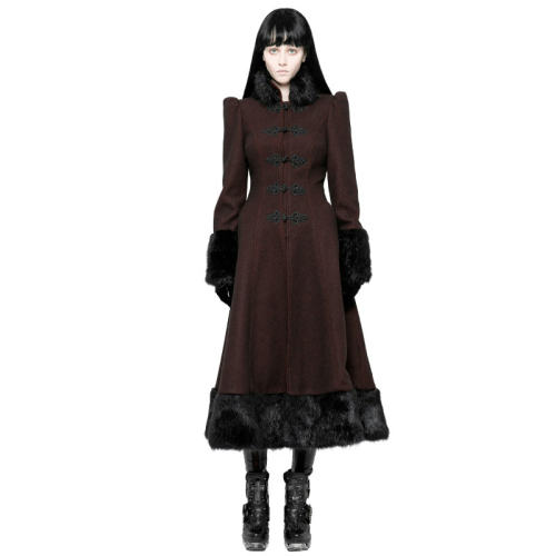 Gothic Daily Magic Women Medium-length Coat