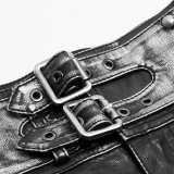 Punk Rave Handsome Punk PU Leather Shorts