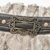 Steampunk Lace retro pattern PU Necklines