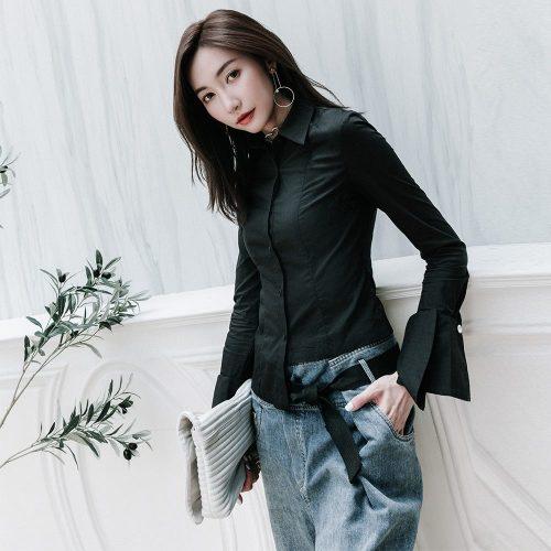 Punk Rave Punk style slim women's blouse