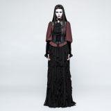 Gothic Lolita PU leather Women's Girdle