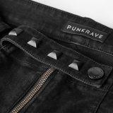 PUNK Men's Denim fabric Long pants