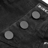Punk High split Women's Nine-point Jean