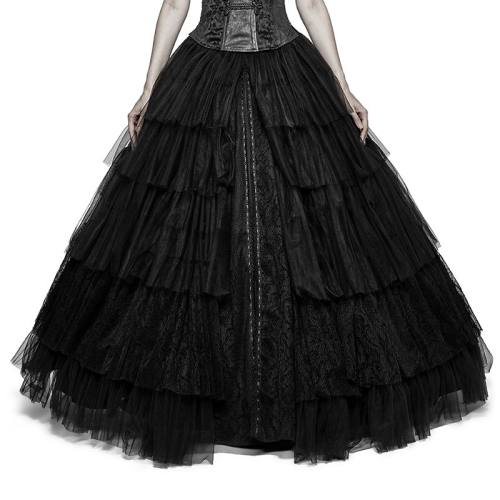 Gothic Soft mesh Dual-use Crinoline Wedding Dress