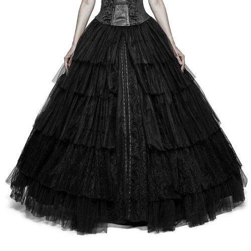 Gothic Soft mesh Dual-use Crinoline Wedding Dress