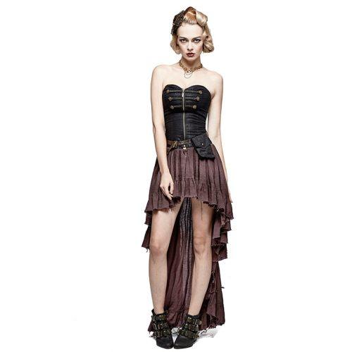 Steampunk Punk Women's Asymmetrical Dress
