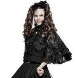 Lolita lace double layer women's black cloak