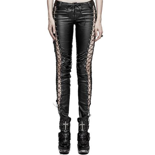 Punk binding side Women's pants