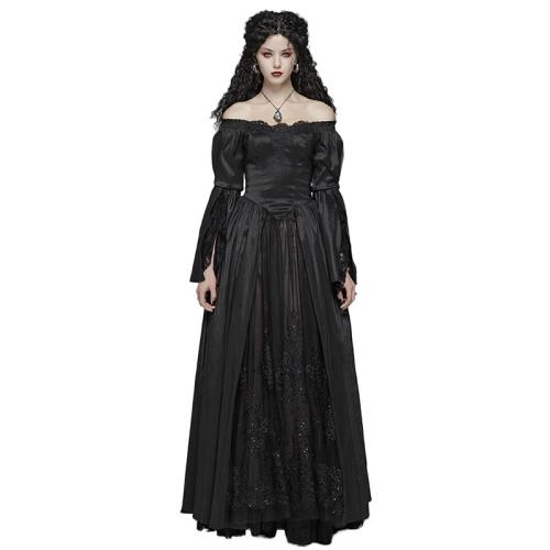 Gothic Victorian Slim fit Lace Women's Dresses