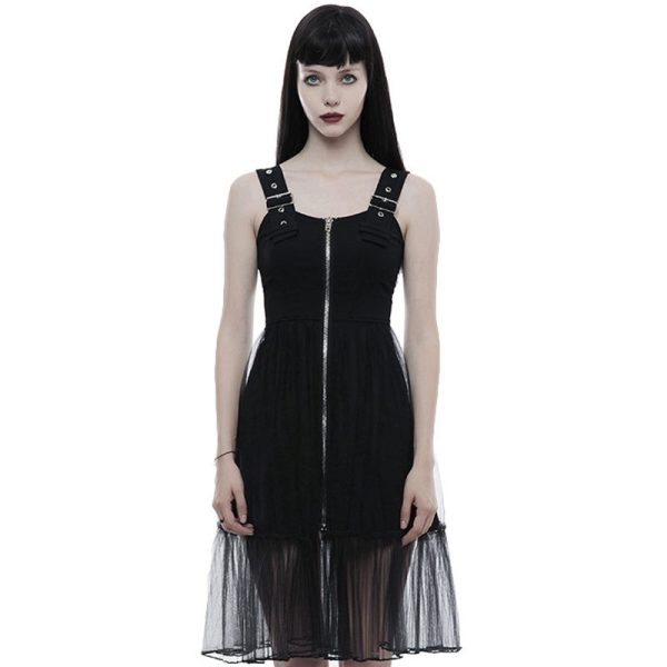 Punk Rave_Punk Handsome Mosaic Women's light mesh Dress