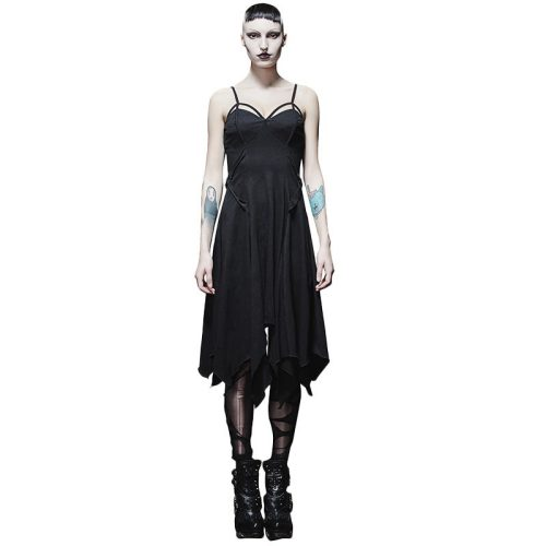 Punk sexy asymmetric braces women's dress