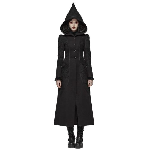 Gothic Long Woolen Women's Coat