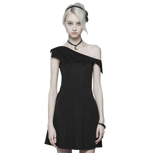 Gothic Dark Series Bat Strapless Women's Dress