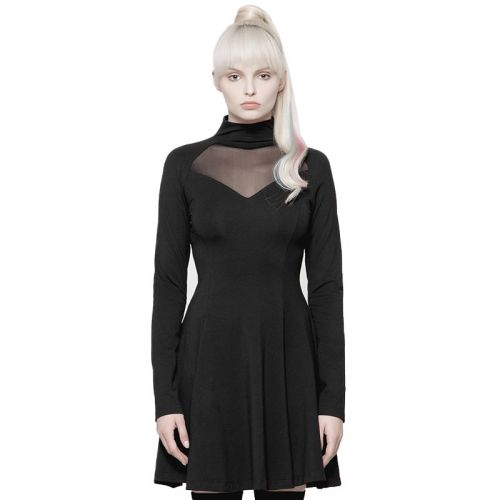 Diablo Series Hollow-out High-collar Women's Dress