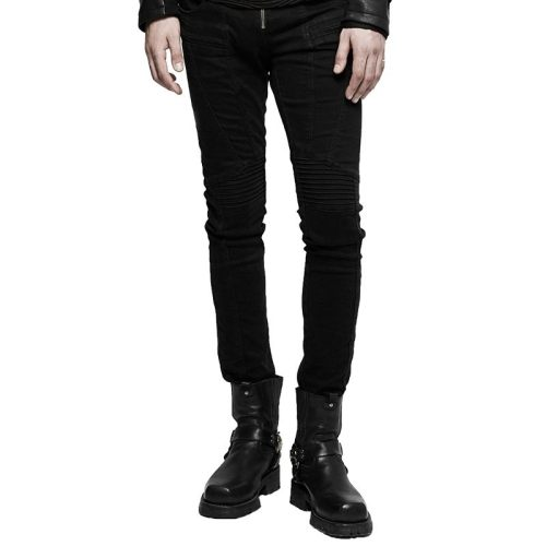 PUNK Men's Denim fabric Long pants