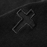 Punk cross openwork knit women's vest