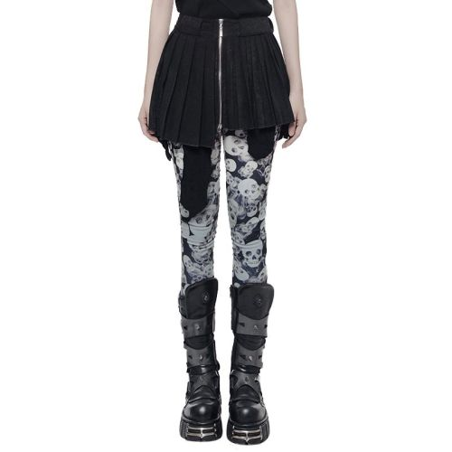 PUNK Mini Pleated Women's Skirt