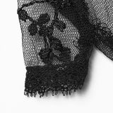 Gothic light lace women's gloves