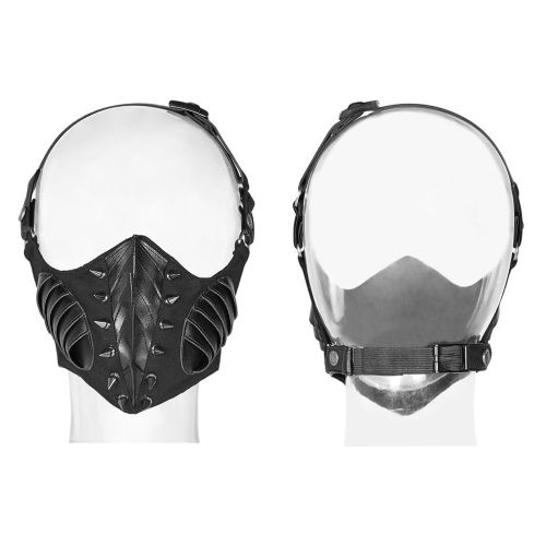 Punk Dark Women's PU Leather Mask