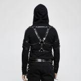 Punk leather chain set men's strap
