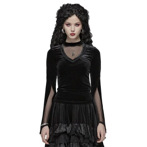 Gothic Double Layer Sleeve Women's T-shirt