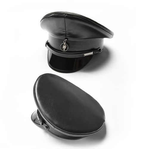 Punk Personality PU leather Men's Hat