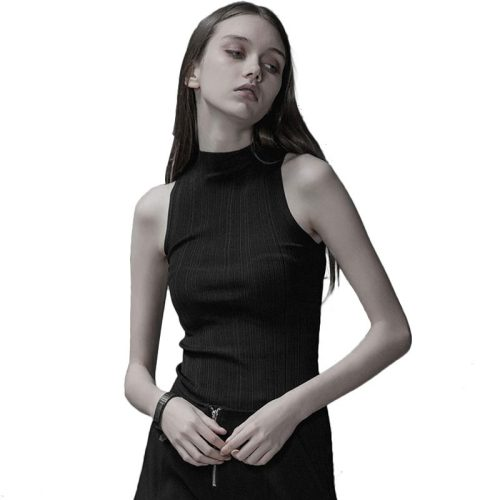 Punk Halter Comfortable Knitted Women's Vest