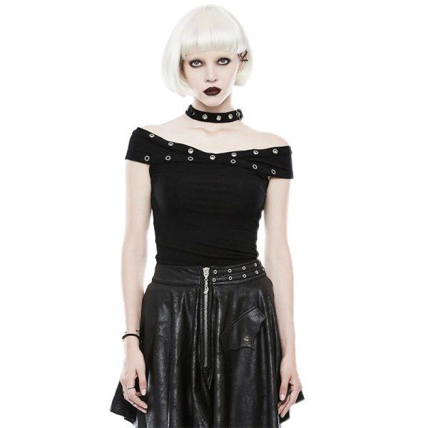 Punk dark  X  off-the-shoulder Women's T-shirt