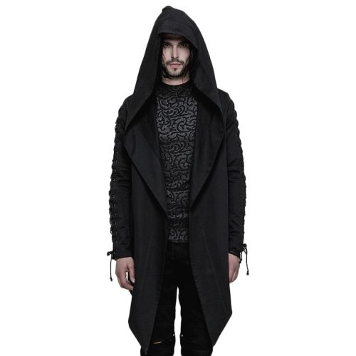 Punk Hooded Loose Men's Coat
