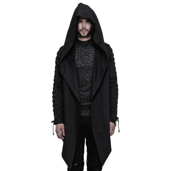 Punk Hooded Loose Men's Coat