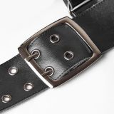 Steam punk Cross leather Strap Clips for men