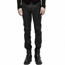 Gothic Jacquard Chinese Frog Women's Trousers