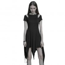 Punk comfortable Irregular Hem Women's Dress
