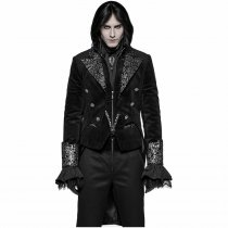 Gothic Dress with Swallow Tail Men's Coat black