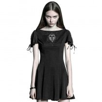 Gothic Palace Vintage Embroidered Short Sleeve Dress