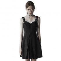 Gothic Small A Pendulum Chiffon Pleated Dress