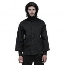 Gothic  High collar Long Sleeve Shirt for men