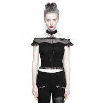 Gothic Off Shoulder Lace Tops Women's T-Shirt