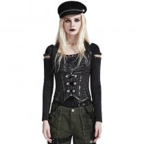 Punk Military Uniform Women's Vest