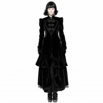 Gothic Gorgeous Court Retro Medium-length Women's Coat