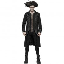 Steampunk Stand-up collar Mid-length Men's Coat