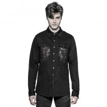 Gothic Keel denim fabric Men's Shirt