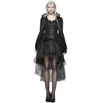 Gothic Dress Slim fitting Women's Coat Black